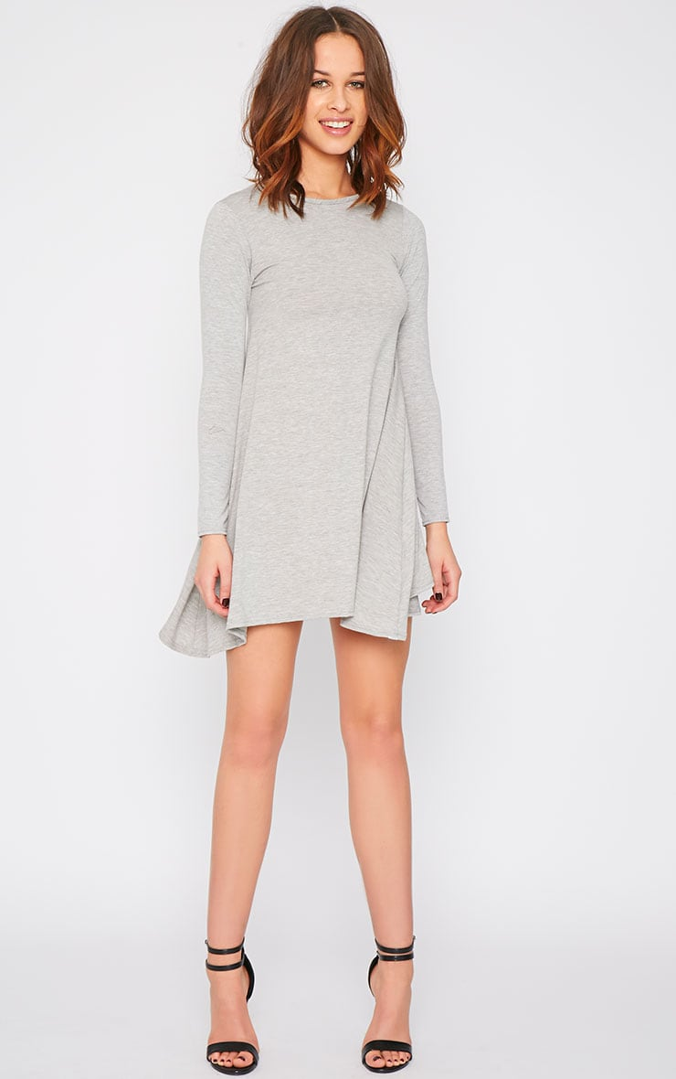 Basic Grey Swing Dress 4