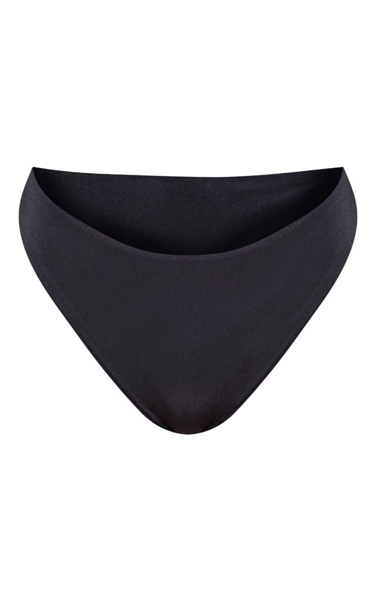 Petite Black Mix & Match Brazilian Thong Bikini Bottom 3