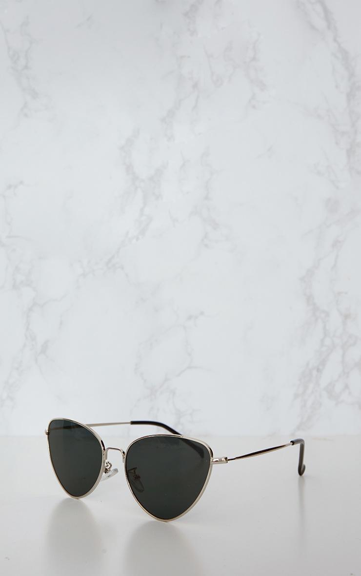 Lunettes rétro oeil de chat à verres noirs 3