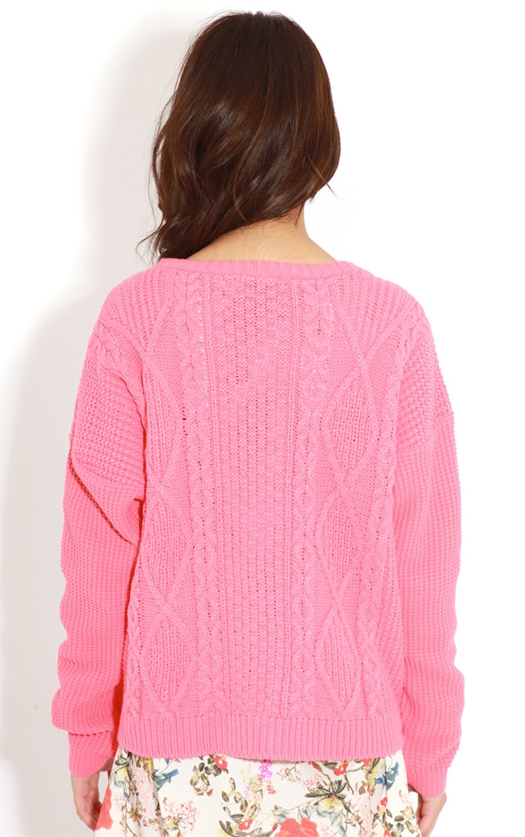 Alina Coral Cable Knit Jumper  2