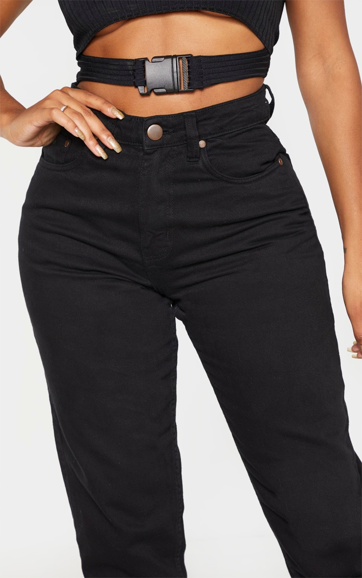 Shape Black Mom Jeans 5