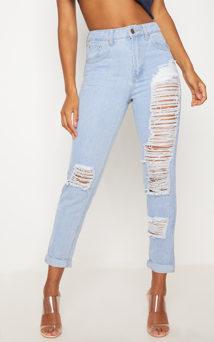 Light Wash Extreme Front Rip Straight Jean 2