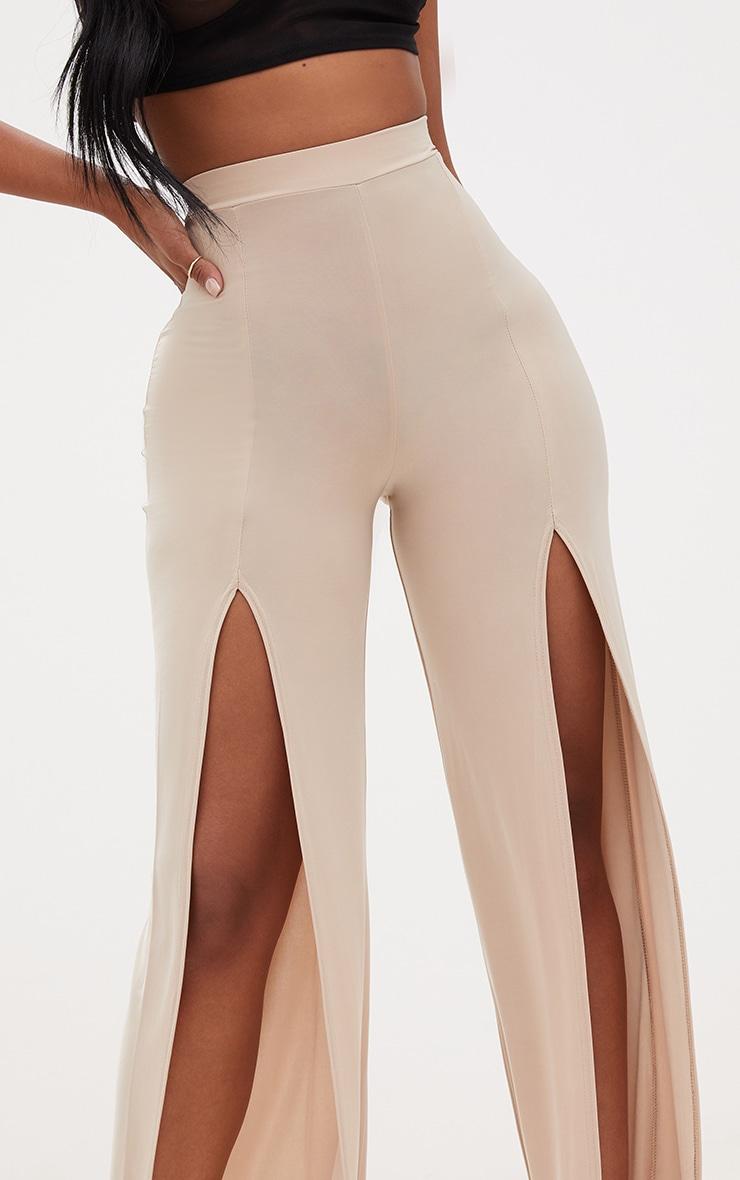 Shape Stone Slinky Split Front Wide Leg Trousers 5