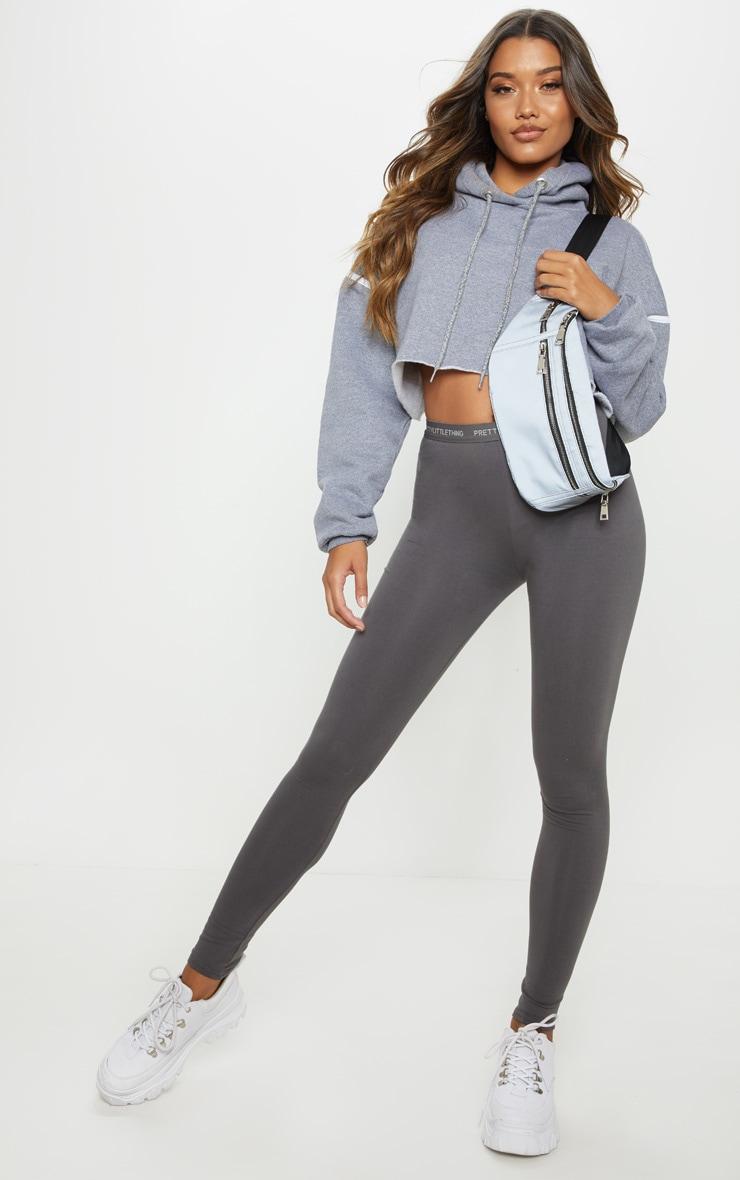 Charcoal Grey PRETTYLITTLETHING Leggings 1