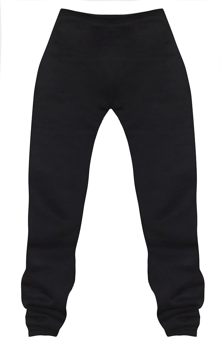 Plus Black Casual Cuffed Sweatpants 1