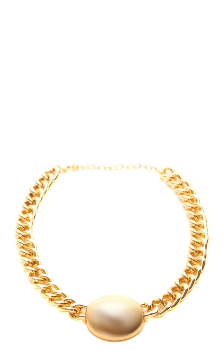 Cammy Gold Circle Chunky Chain Necklace 4