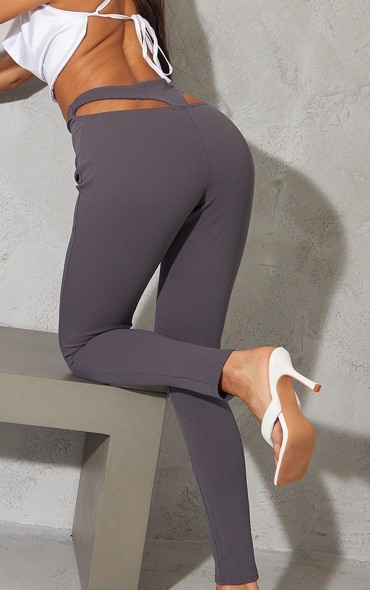 Charcoal Blue T Bar Skinny Trousers 4