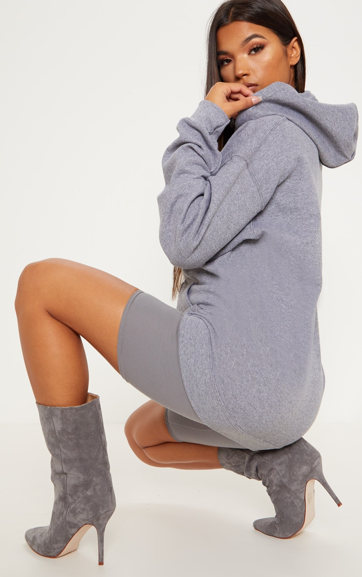 Grey Fleece Zip Up Hoodie 2