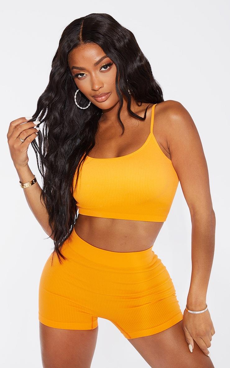 Shape Orange Contour Rib Shorts 4