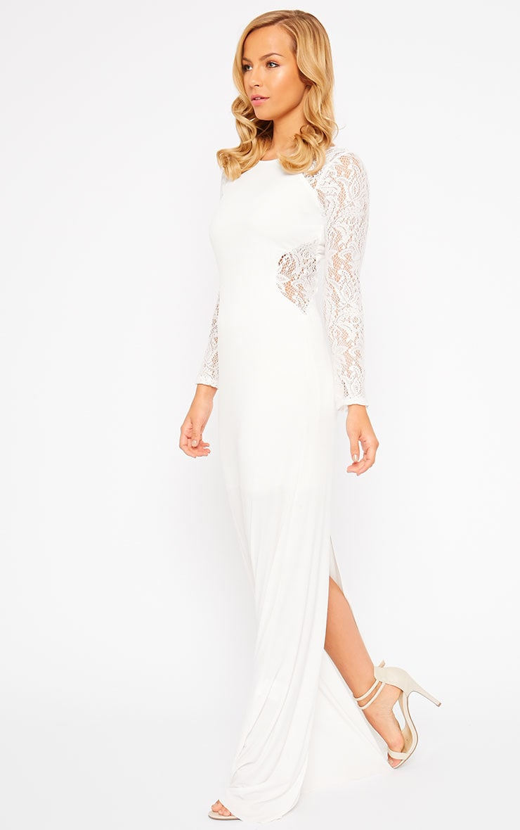 Debbie Cream Lace Insert Maxi Dress 1