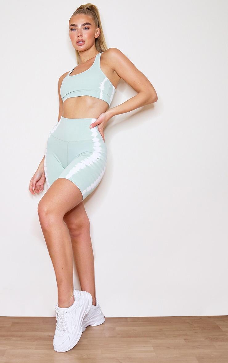 Mint Tie Dye Bike Shorts 4