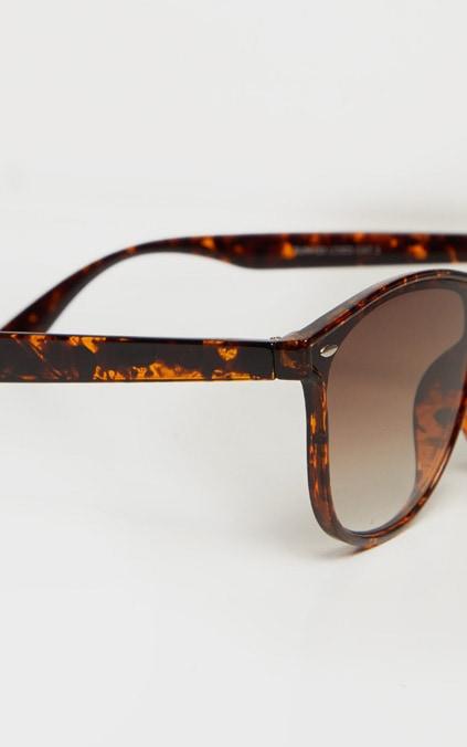 Brown Square Oversized Tortoise Sunglasses 5