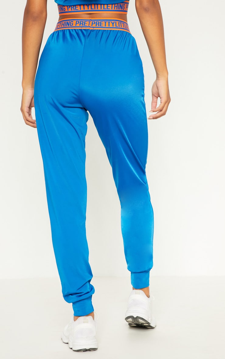 PRETTYLITTLETHING Cobalt High Waisted Joggers 4