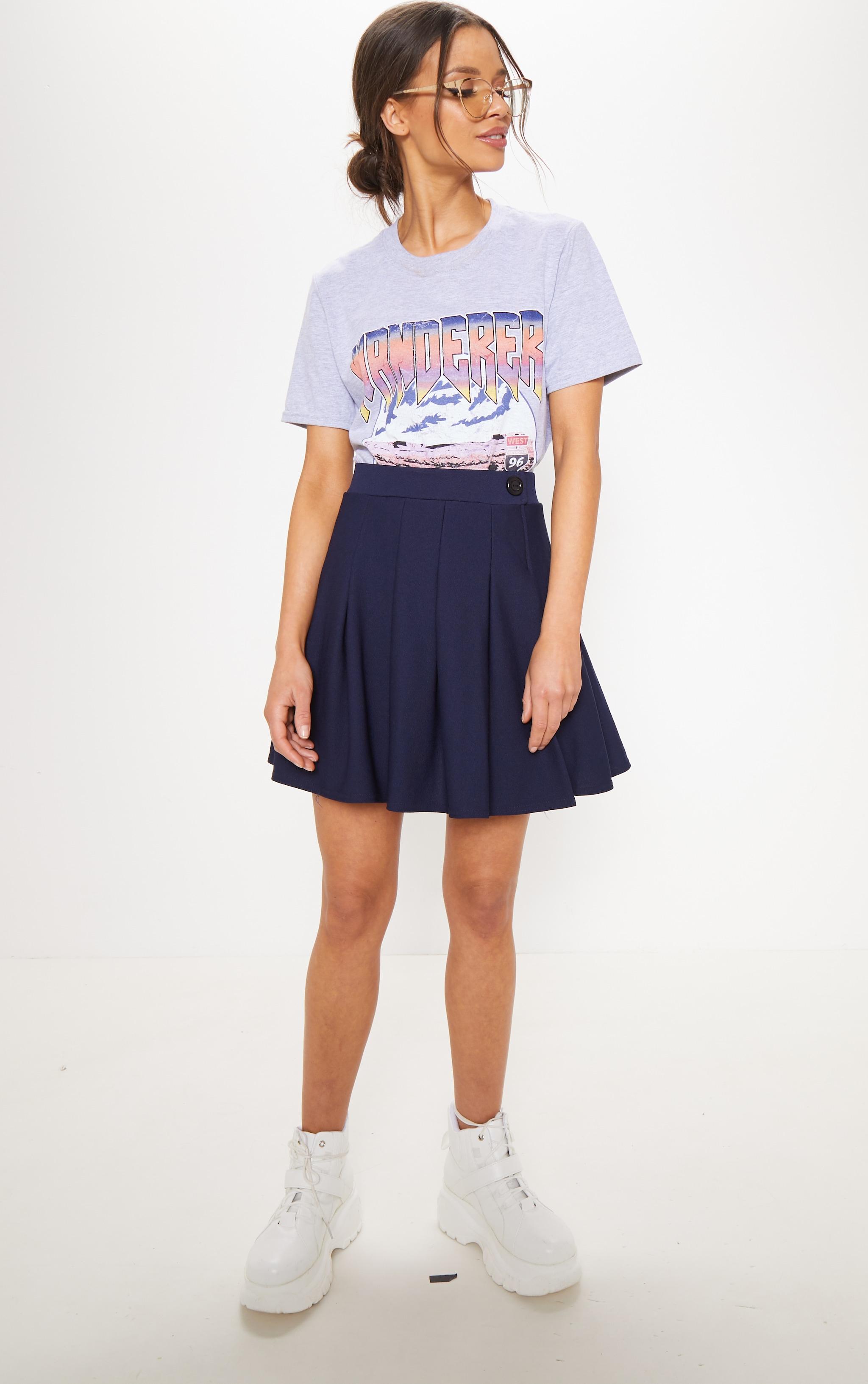Navy Pleated Tennis Skirt 4