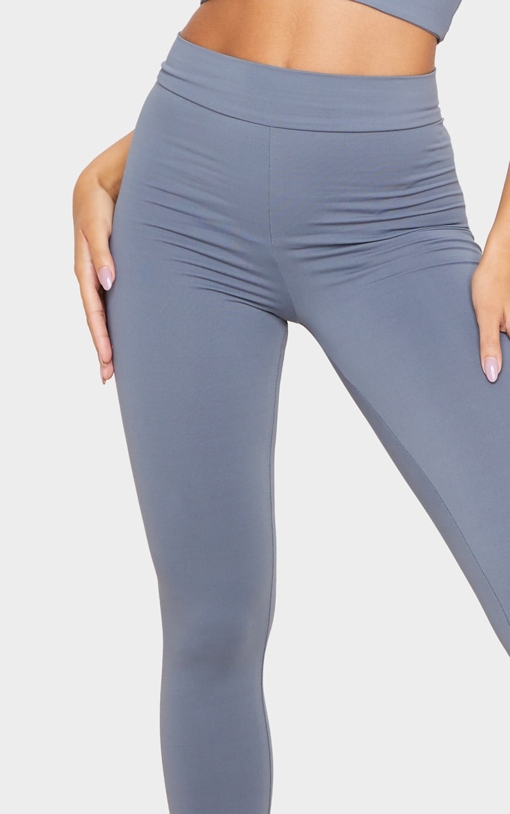 Charcoal Luxe High Waist Gym Legging 5