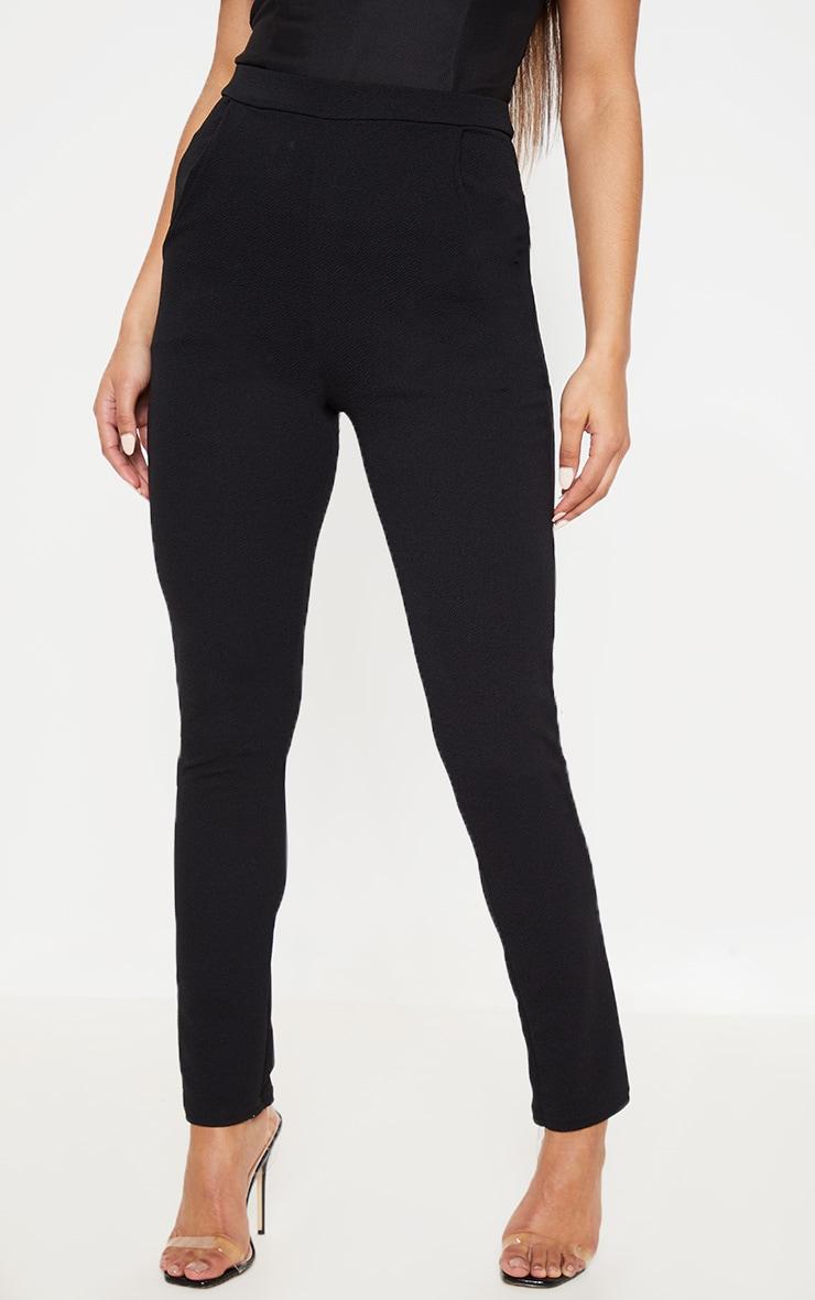 Sage Black Crepe Skinny Pants 2