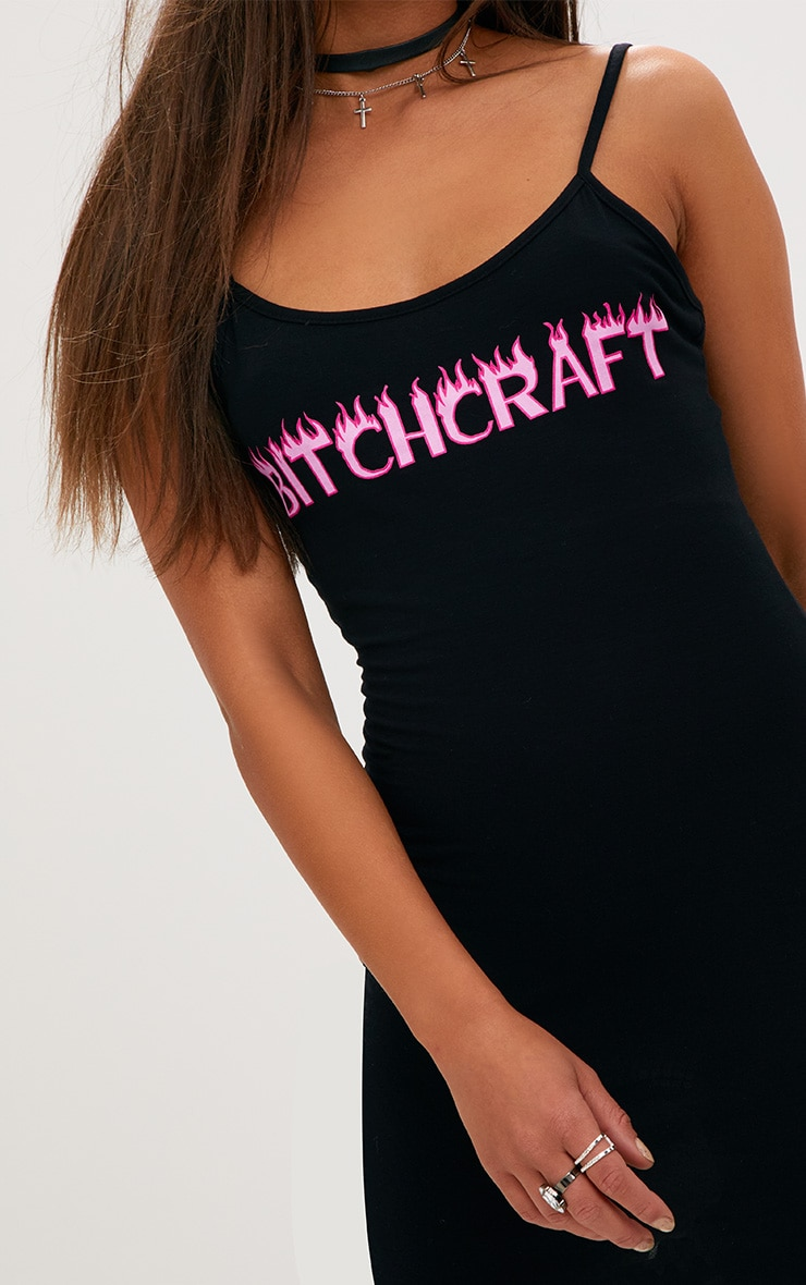 Black Jersey Bitch Craft Bodycon Dress 5