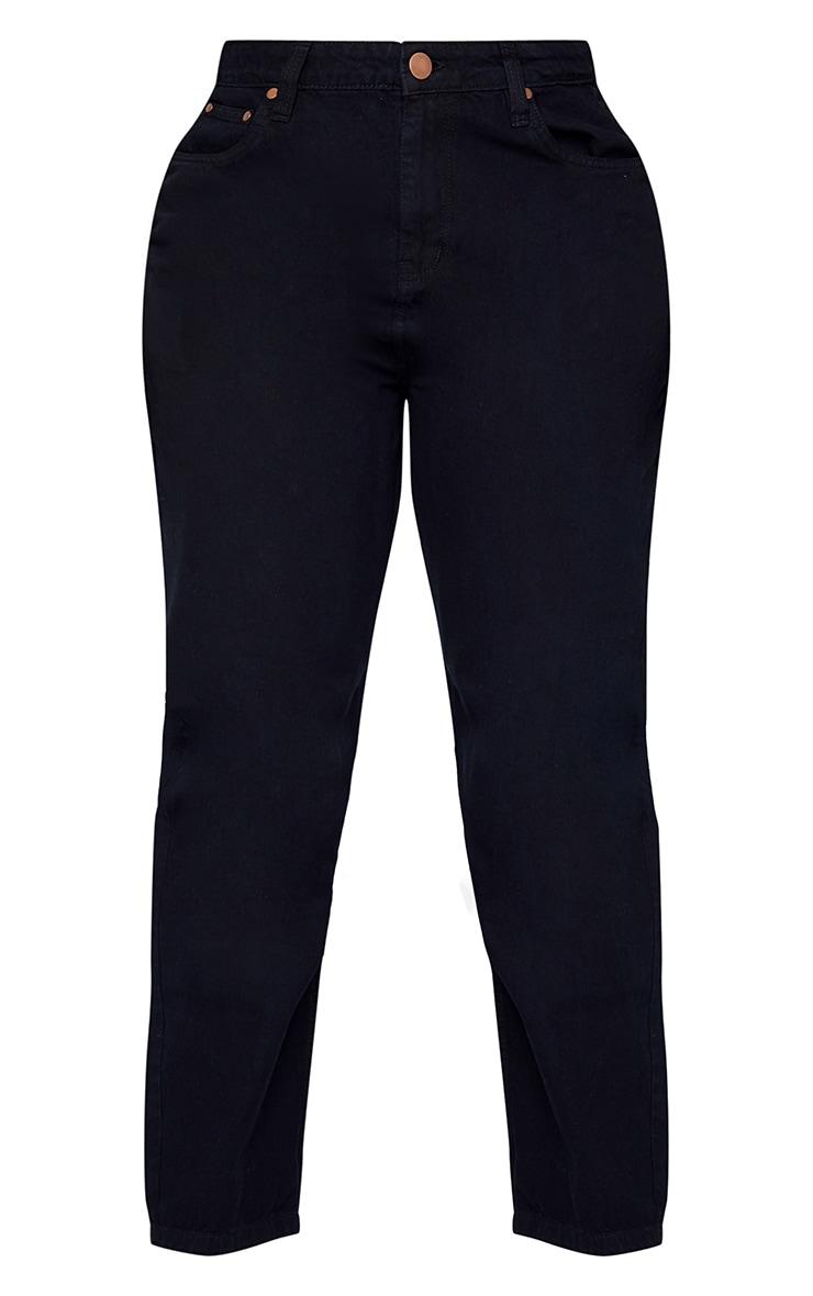 Plus Black Wash Bum Rip Straight Leg Jeans 1