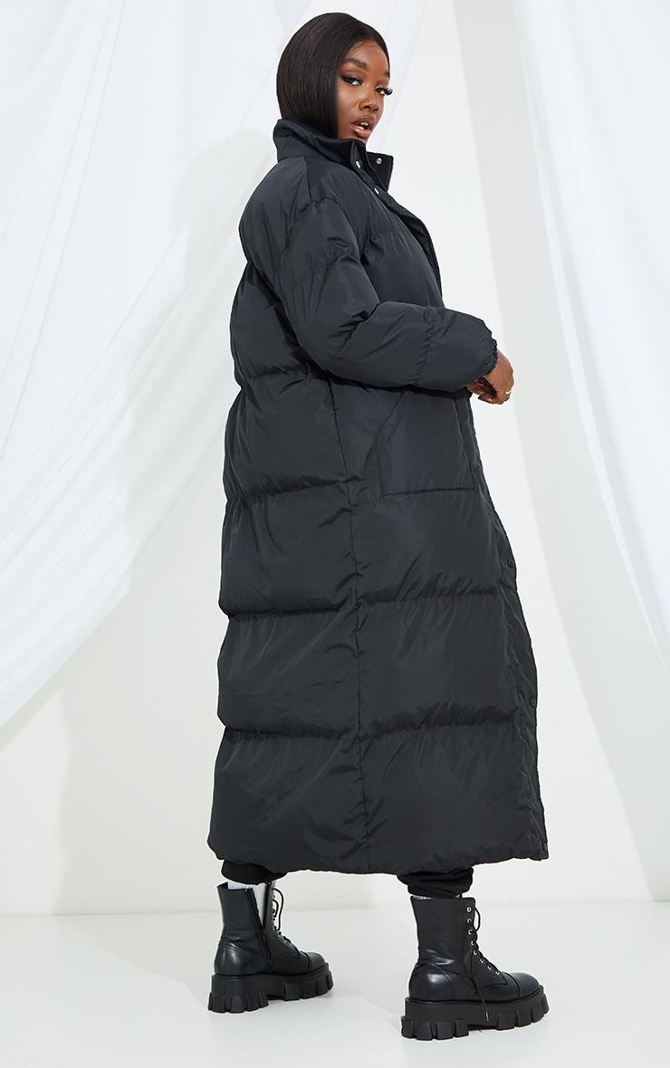 Tall Black Maxi Puffer Coat 2