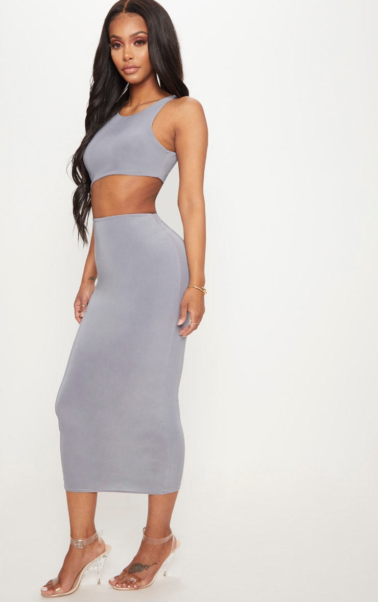 Shape Ice Grey Extreme Cut Out Midaxi Dress 4