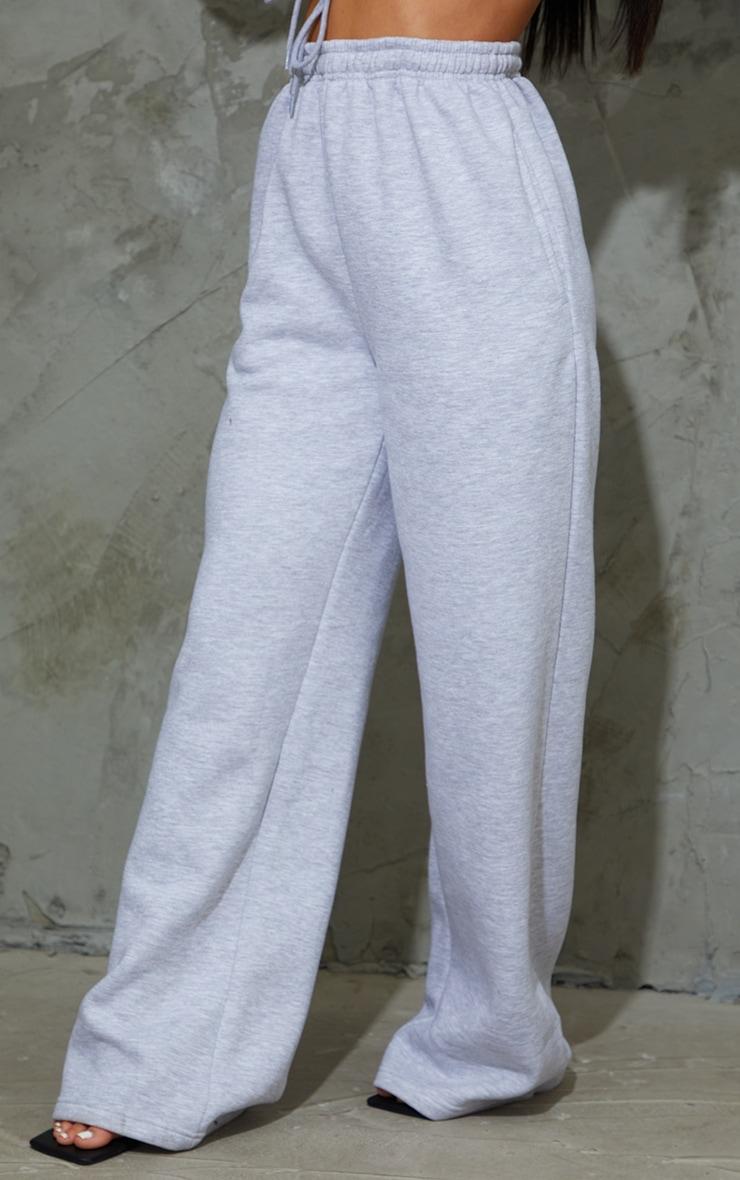 Grey Marl Wide Leg Joggers 2