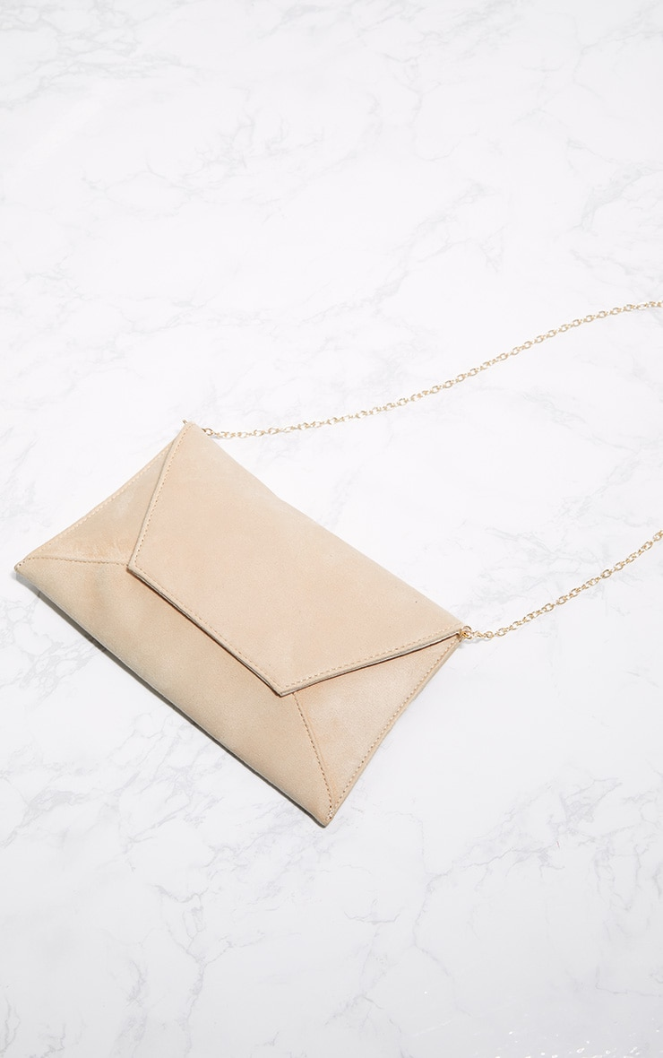 Nude Envelope Clutch Bag 3