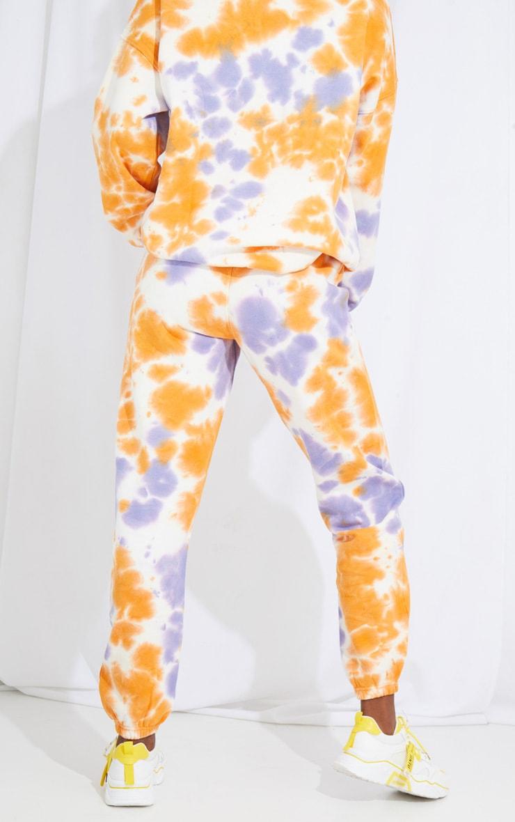 Tall Orange Oversized Tie Dye Joggers 3