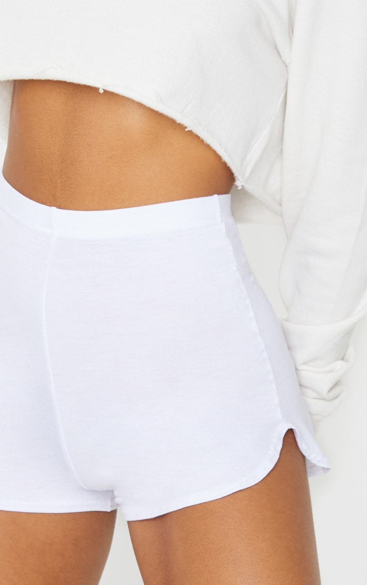 White Basic Runner Short  5