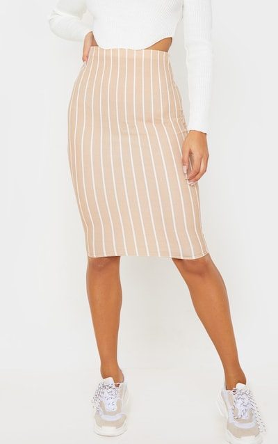 Stone Stripe Midi Skirt