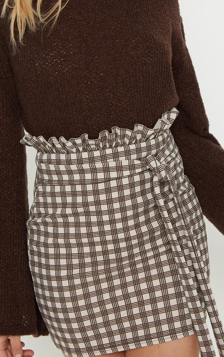 Stone Check Paperbag Mini Skirt 6