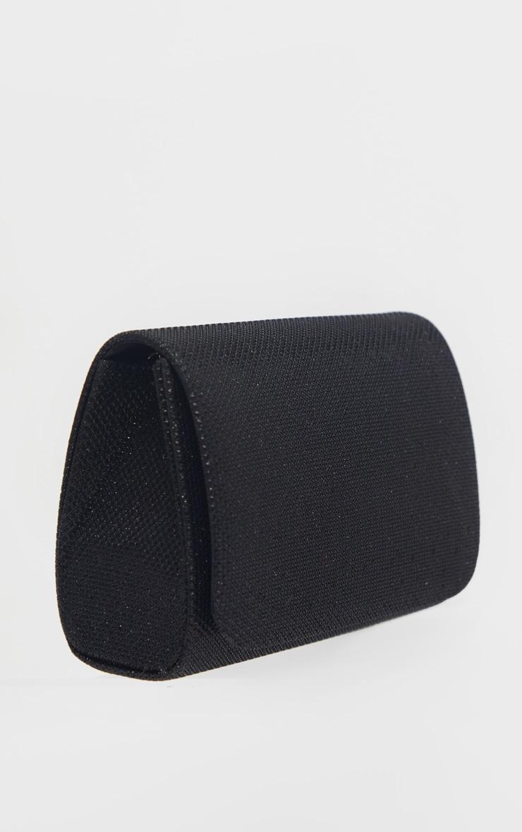 Mini pochette noire scintillante 4