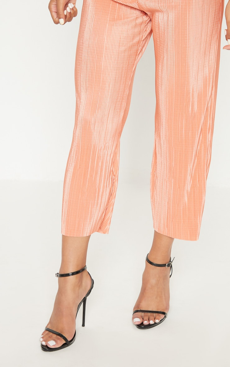 Orange Plisse Pleated Culottes 5