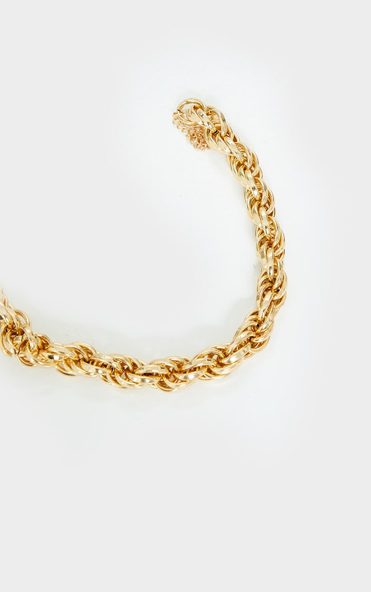 Gold Chunky Oversized Rope Chain Necklace 2