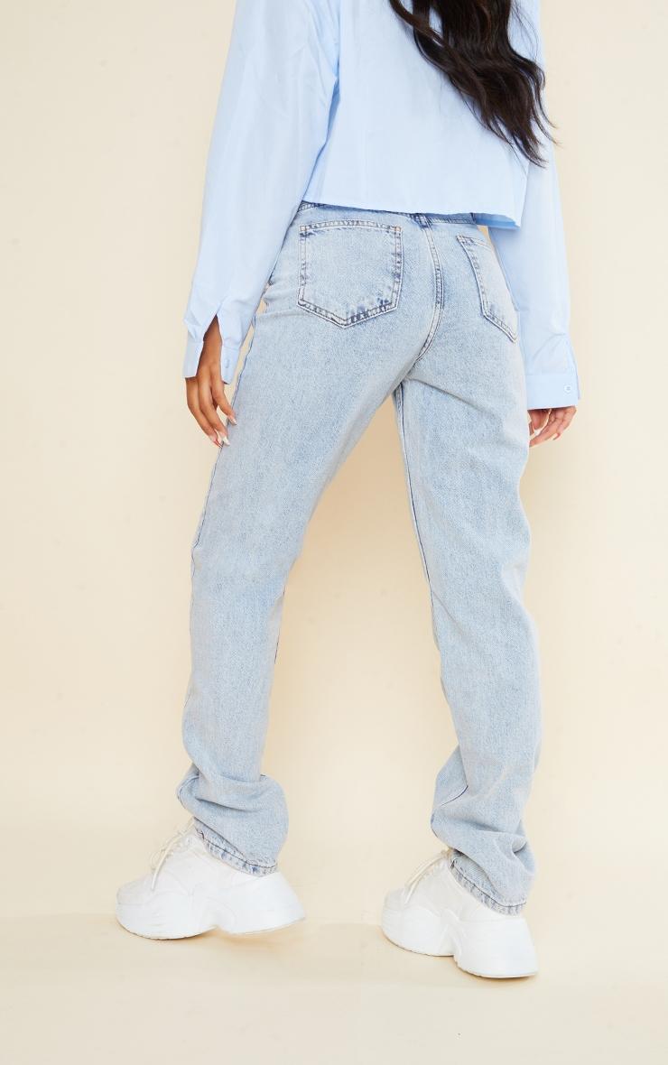 Vintage Wash Long Leg Straight Leg Jean 3