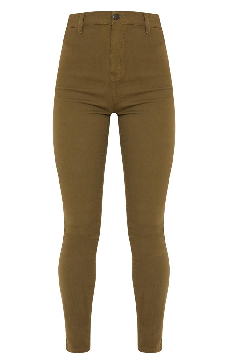 Khaki Disco Fit Skinny Jean 3
