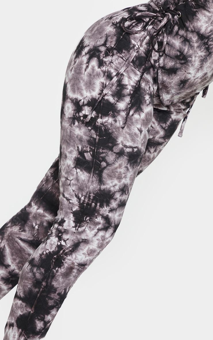 Shape Brown Tie Dye Cotton High Waist Leggings 4