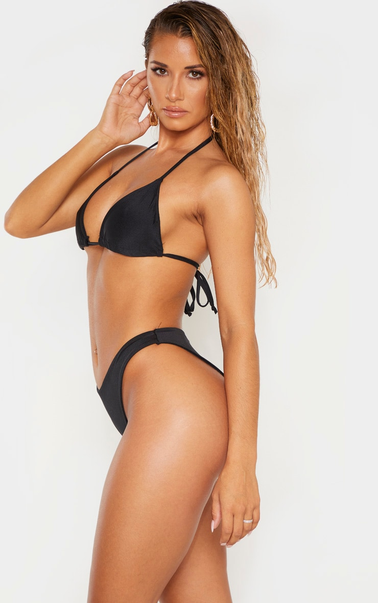 Black Mix & Match Super High Leg Brazilian Bikini Bottom 2