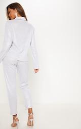 Silver Glitter Mesh Long Sleeve Shirt 4