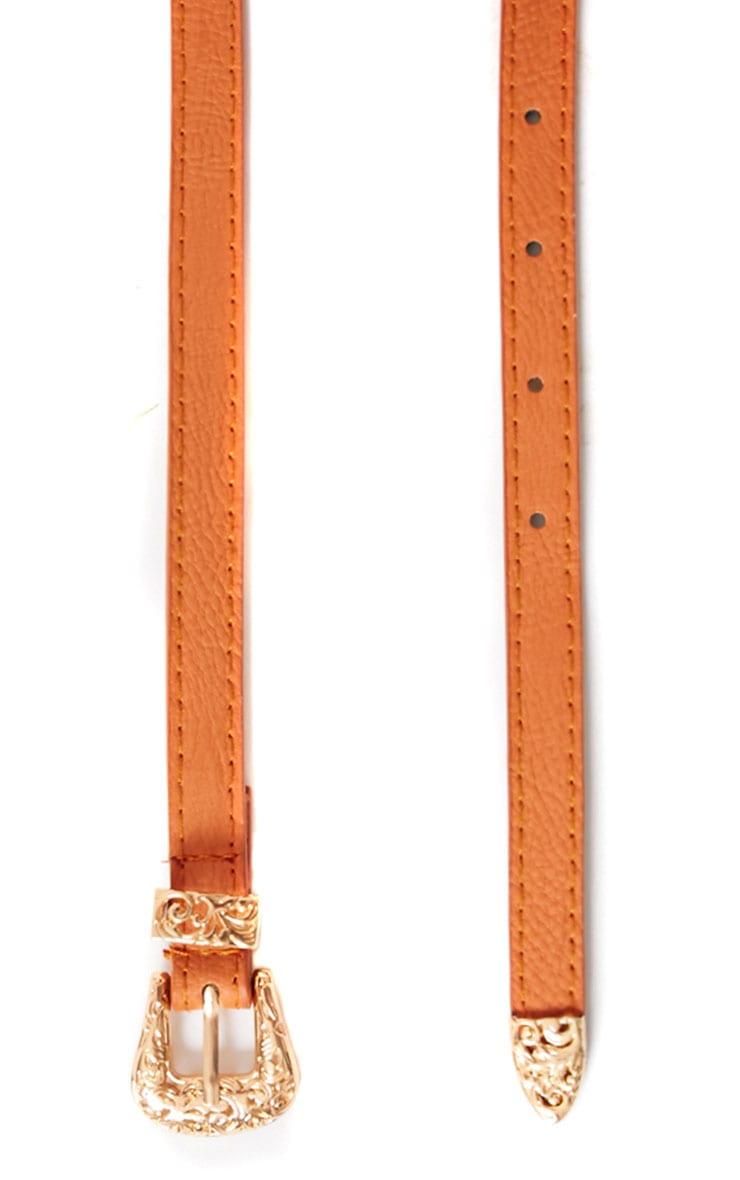 Orla Tan Skinny Belt 2