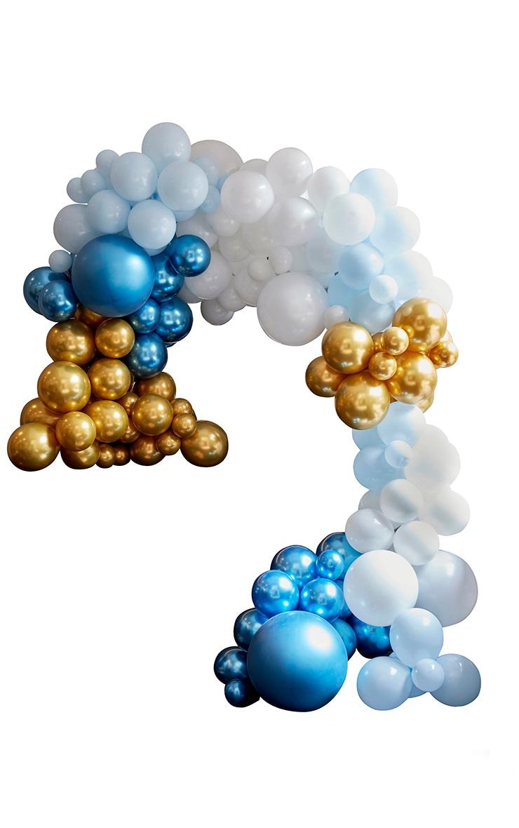 Ginger Ray - Arche de ballons bleus et dorés 2