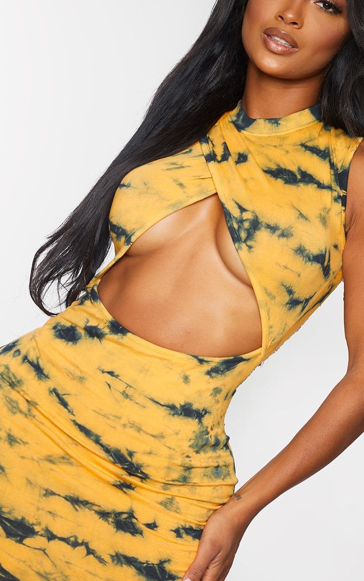 Shape Orange Tie Dye Cut Out Bodycon Dress 4