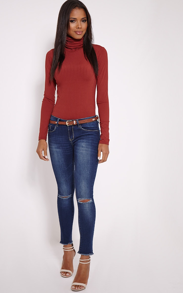 Nathalie Tan Embroidered Skinny Belt 4