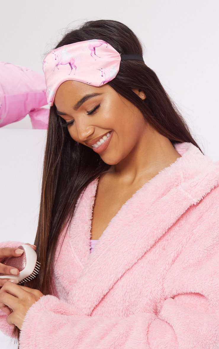 PRETTYLITTLETHING Unicorn Pink Print Sleep Mask  2