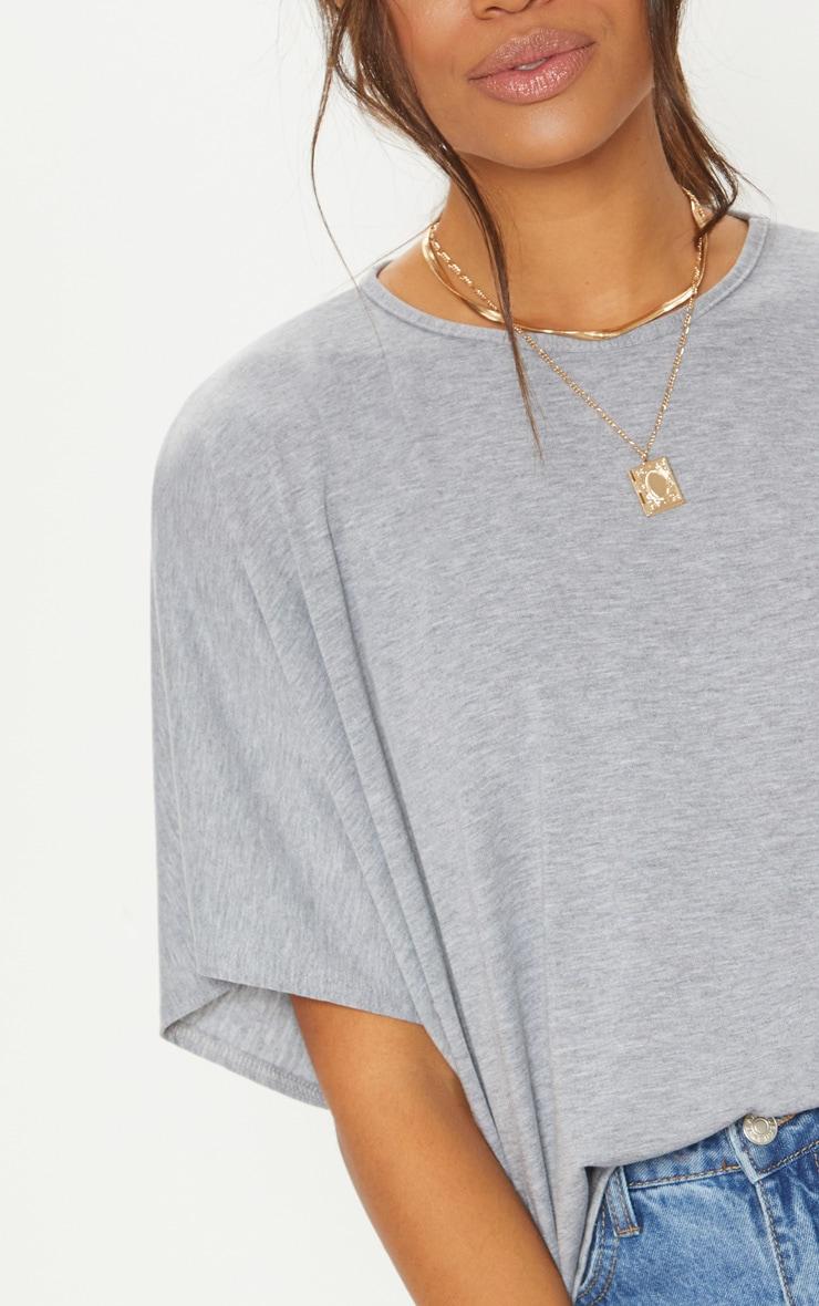 Basic Grey Jersey Batwing T shirt 5
