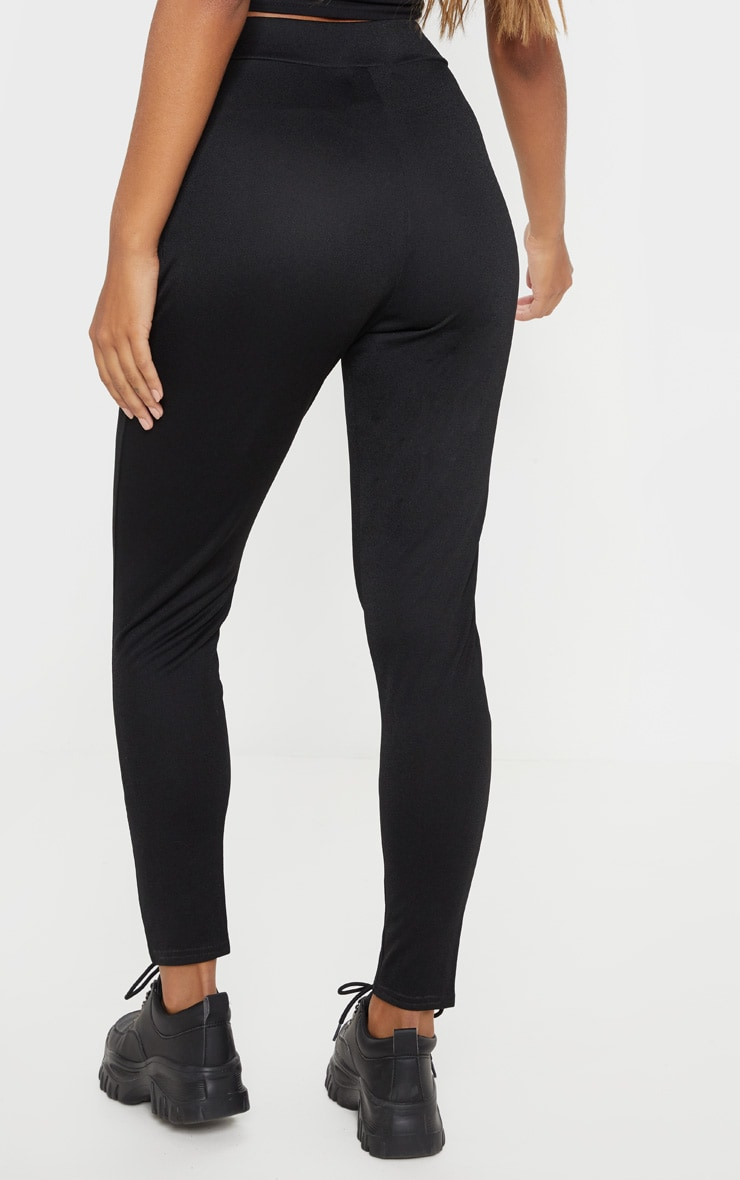Black Wrap Front Skinny Trouser  4