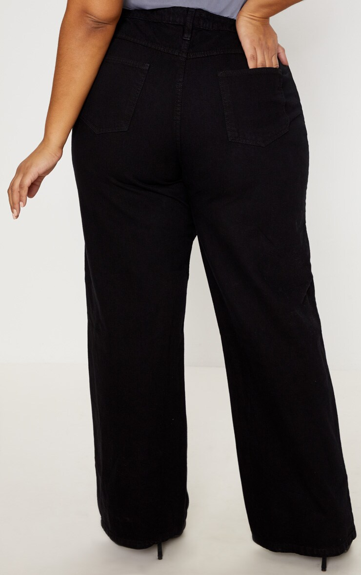 Plus Black Extreme Wide Leg Jean 4