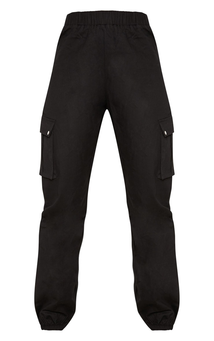 Black Pocket Detail Cargo Trousers 3