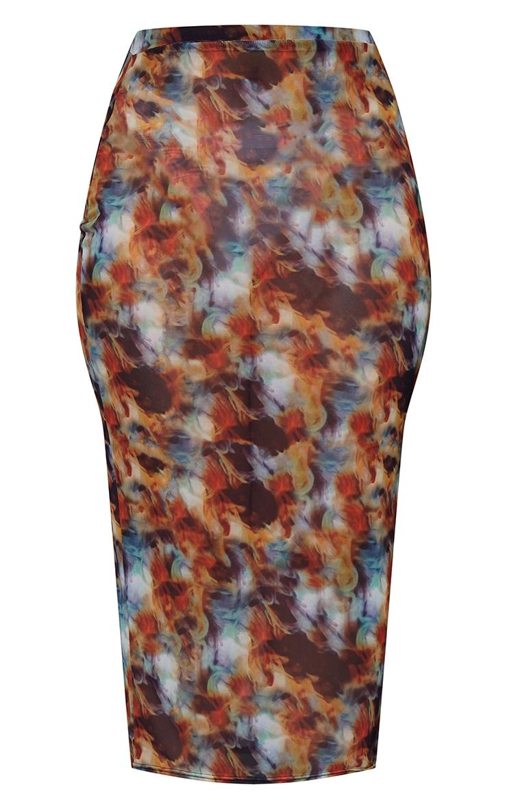 Plus Multi Tie Dye Mesh Midaxi Skirt 5