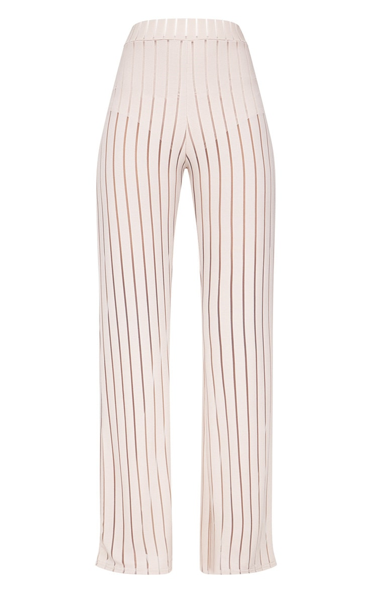 Stone Mesh Stripe High Waisted Wide Leg Trousers 3