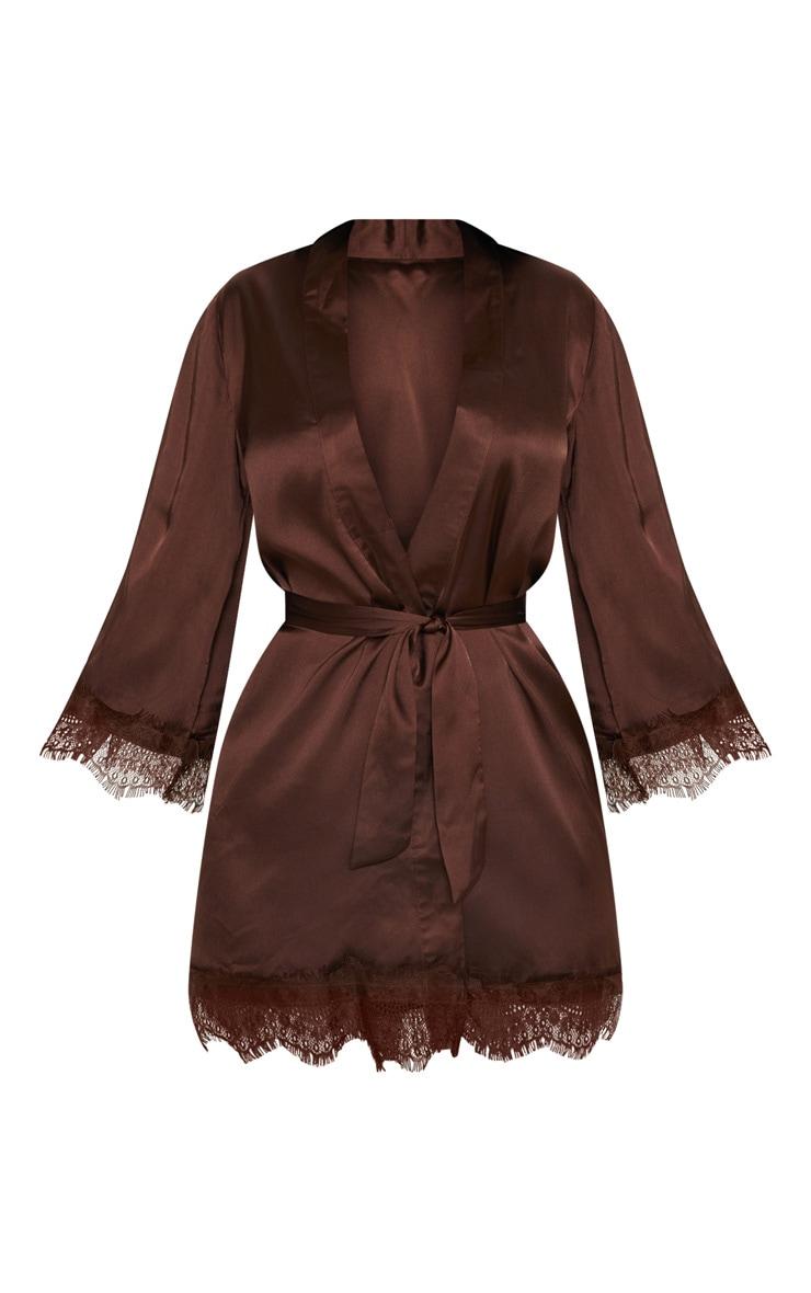 Chocolate Lace Robe 3